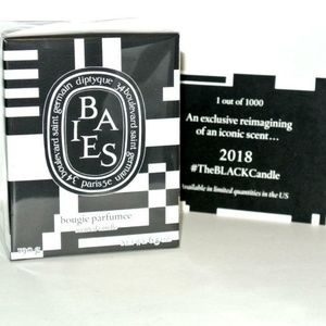 Diptyque Baies BLACK Candle 2018 Limited Edition